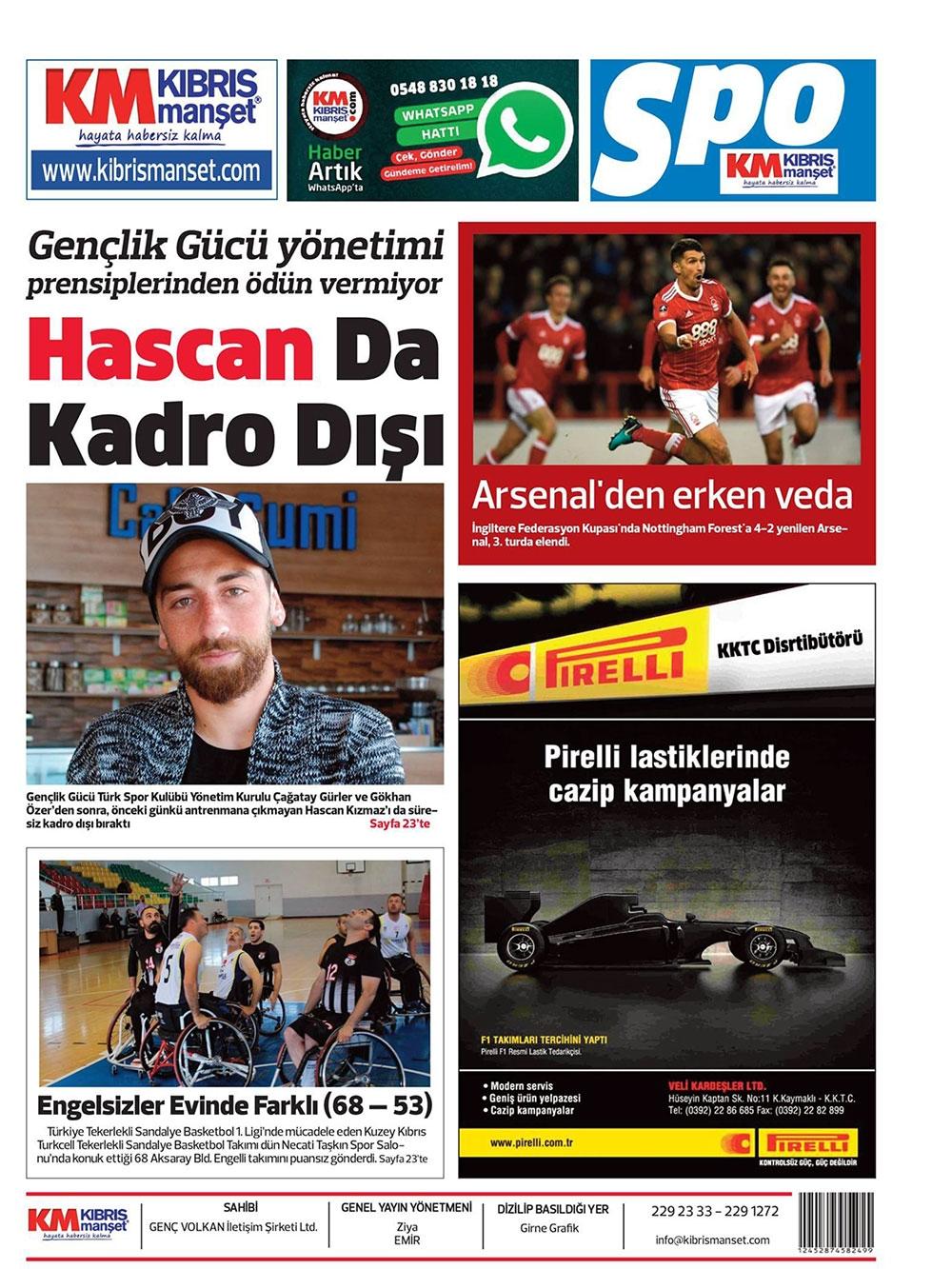 Spor basınında bugün... (8 Ocak 2018) galerisi resim 11