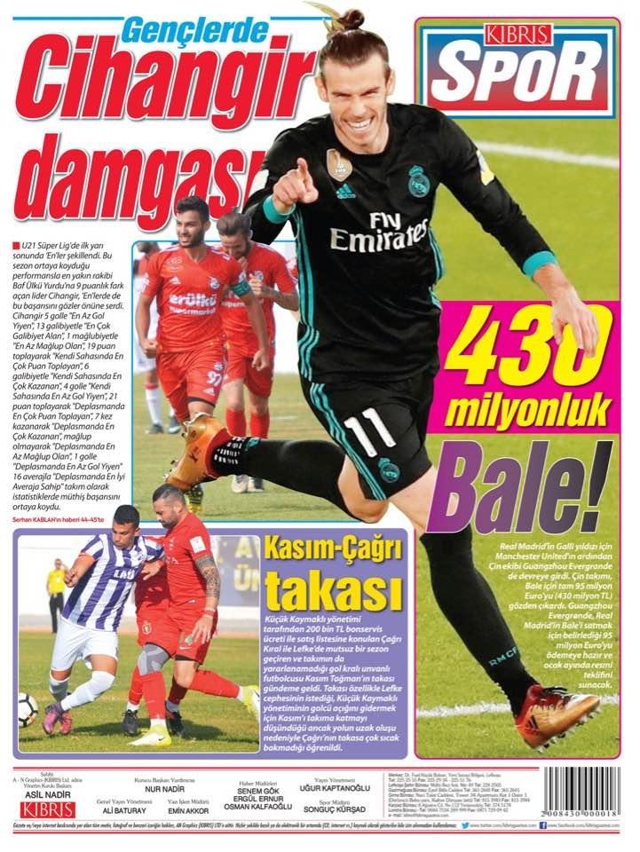 Spor basınında bugün... (8 Ocak 2018) galerisi resim 2
