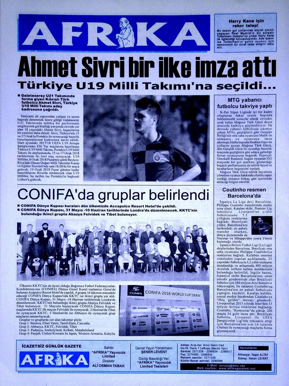 Spor basınında bugün... (8 Ocak 2018) galerisi resim 7