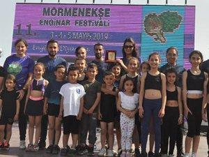 Cimnastikçiler, festivale renk kattılar