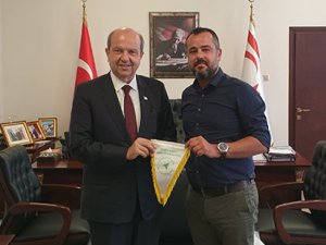 Gazioğlu'ndan Başbakan Tatar'a ziyaret