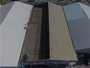 Cimnastik Federasyonu salonunda çatı değiştiriliyor