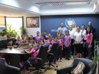 Cimnastik Federasyonu heyetiCahitoğlu'nuziyaret etti