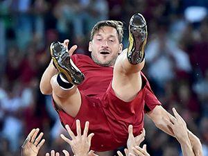 Totti'nin duygusal vedası
