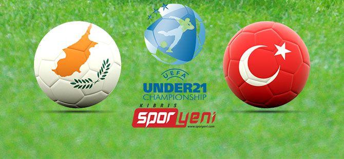 Kıbrıs - Türkiye U21 maçı