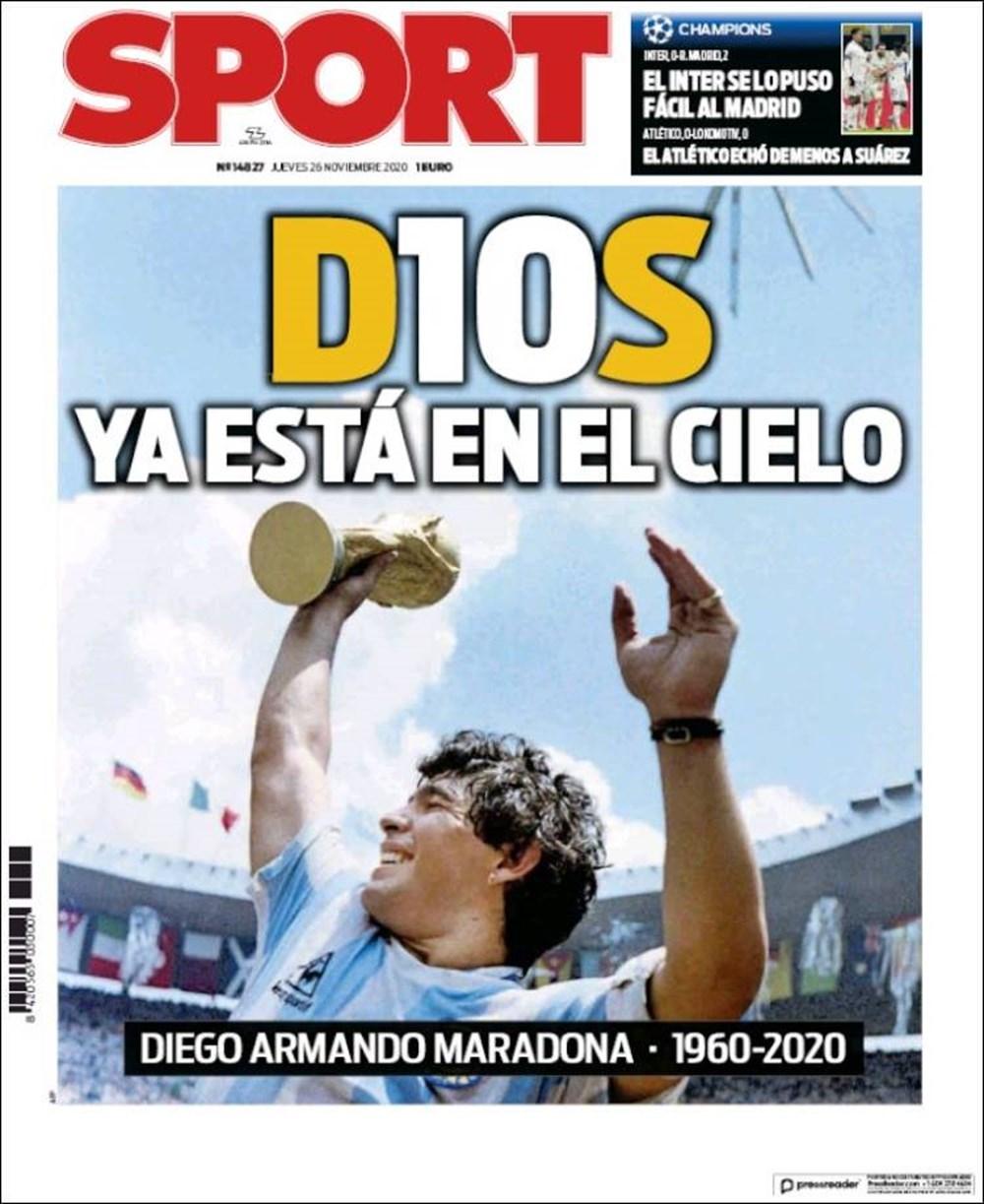 """Dünya Basını: """"Maradona Tanrı'nın Ellerinde"""" 1"""
