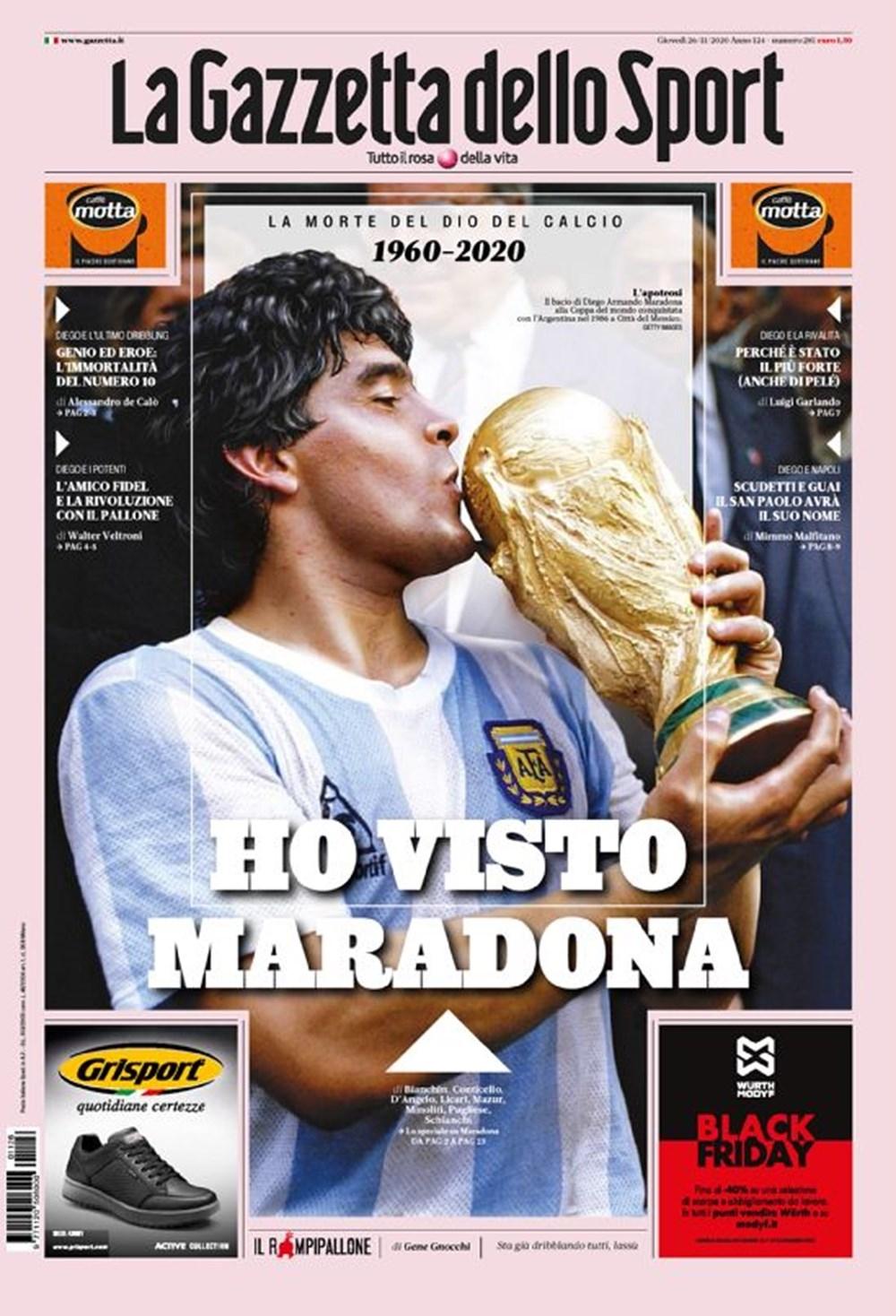 """Dünya Basını: """"Maradona Tanrı'nın Ellerinde"""" 17"""