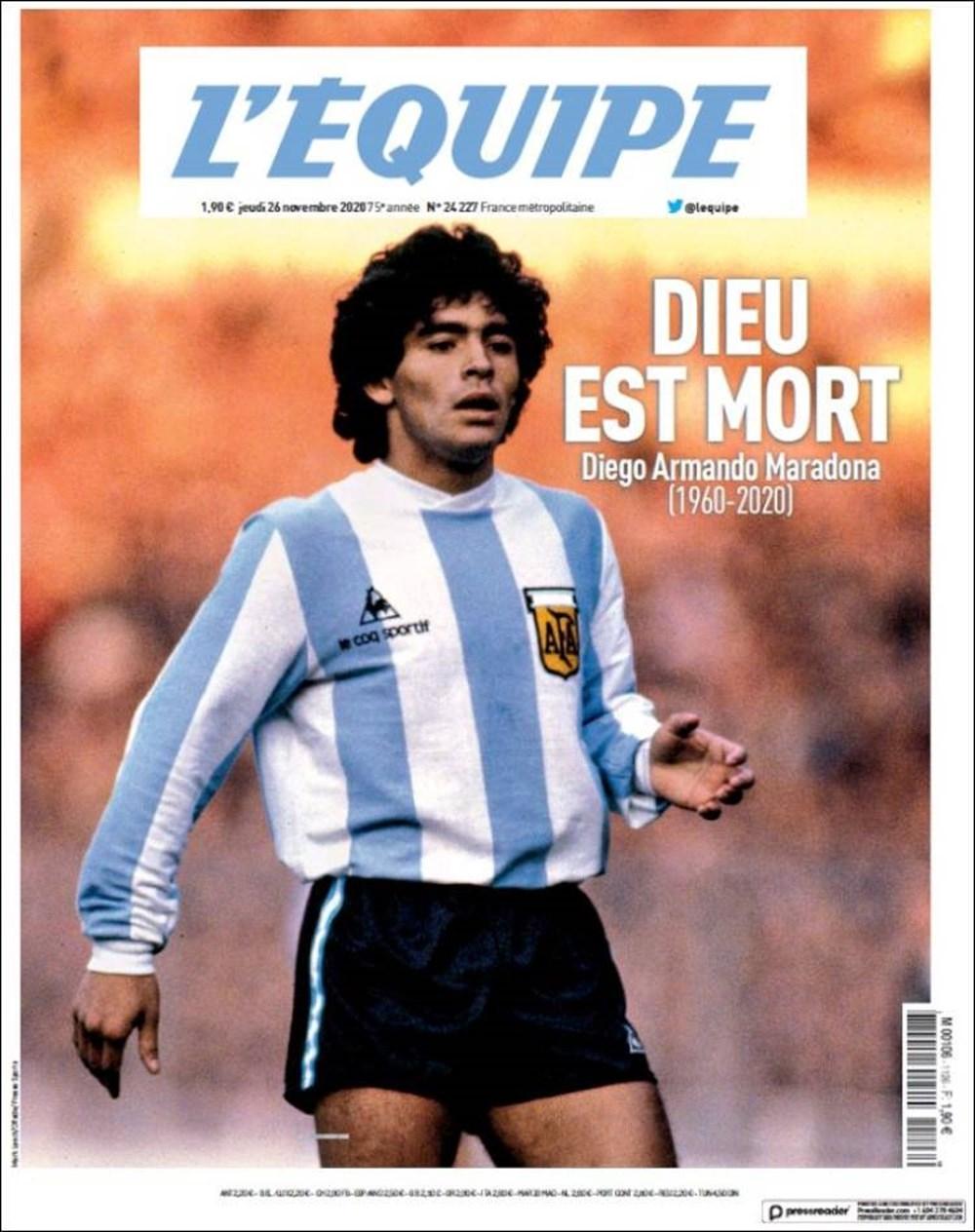 """Dünya Basını: """"Maradona Tanrı'nın Ellerinde"""" 2"""