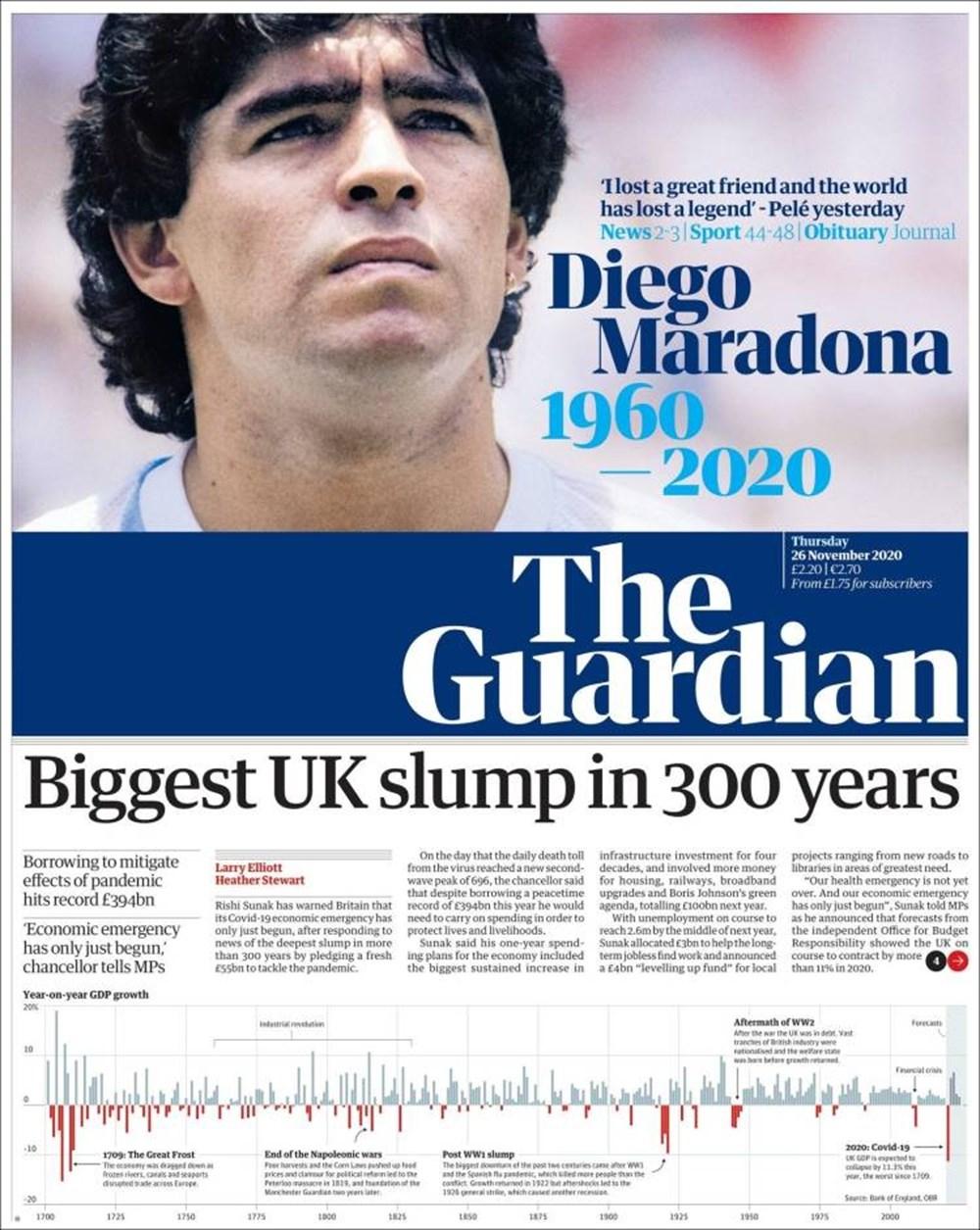 """Dünya Basını: """"Maradona Tanrı'nın Ellerinde"""" 4"""