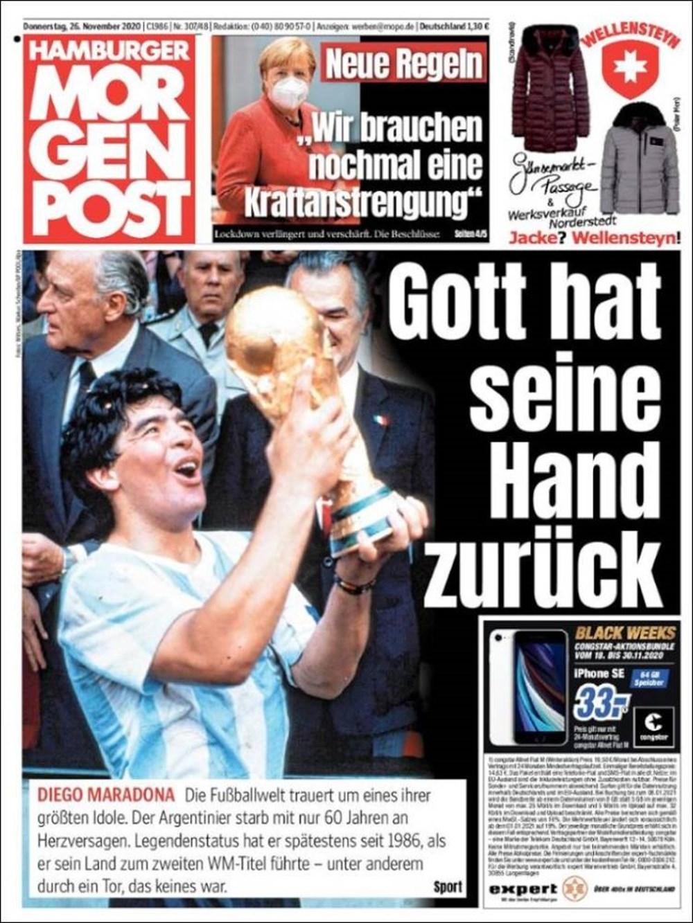 """Dünya Basını: """"Maradona Tanrı'nın Ellerinde"""" 7"""