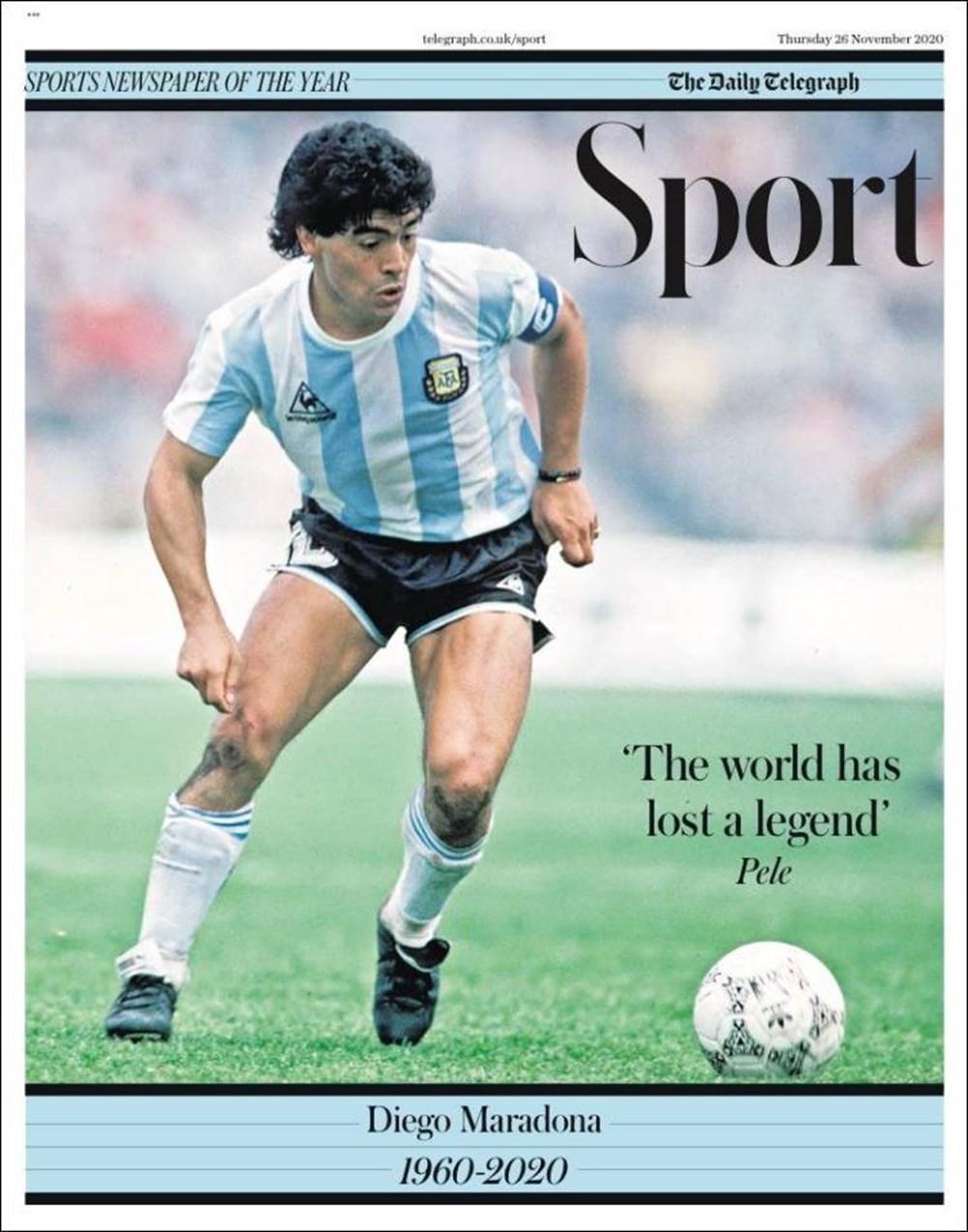 """Dünya Basını: """"Maradona Tanrı'nın Ellerinde"""" 9"""