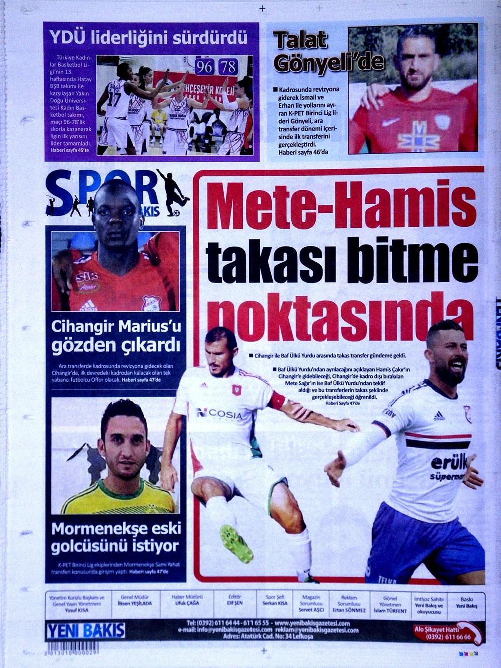 Spor basınında bugün... (8 Ocak 2018) 6