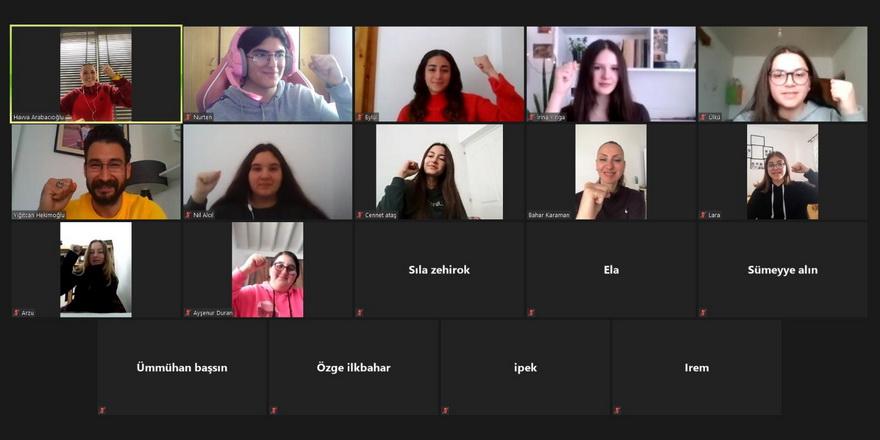 Yiğitcan öğrencilerle online buluştu