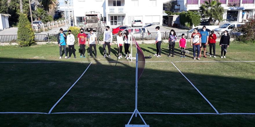 'Air Badminton' sahası açılış töreni ve tanıtımı yapıldı