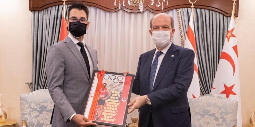 Tatar, elit atlet Yiğitcan ile görüştü