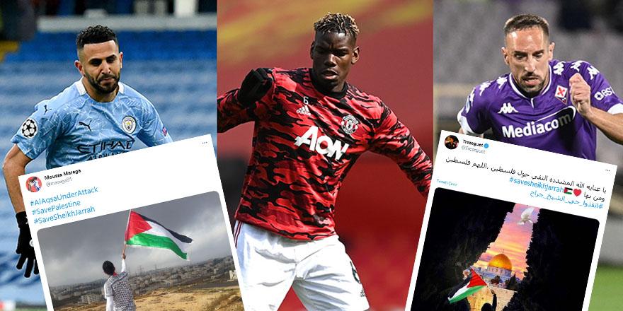 Ünlü futbolculardan Filistin'e destek paylaşımları