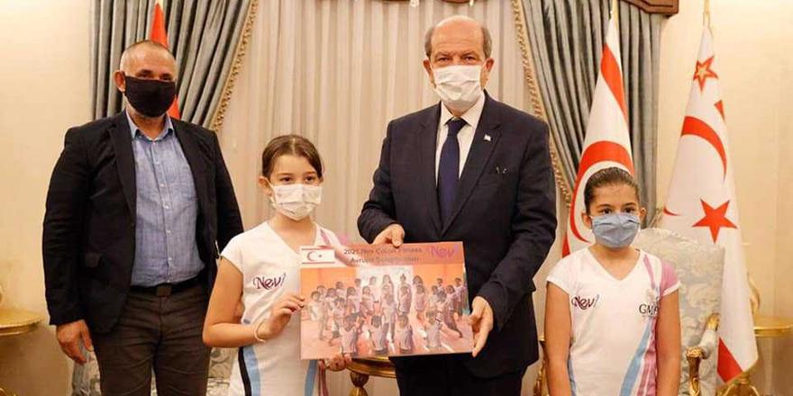 Tatar, sporcu çocukları kabul etti