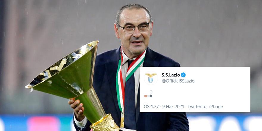 Lazio, Sarri'yi sıra dışı şekilde açıkladı