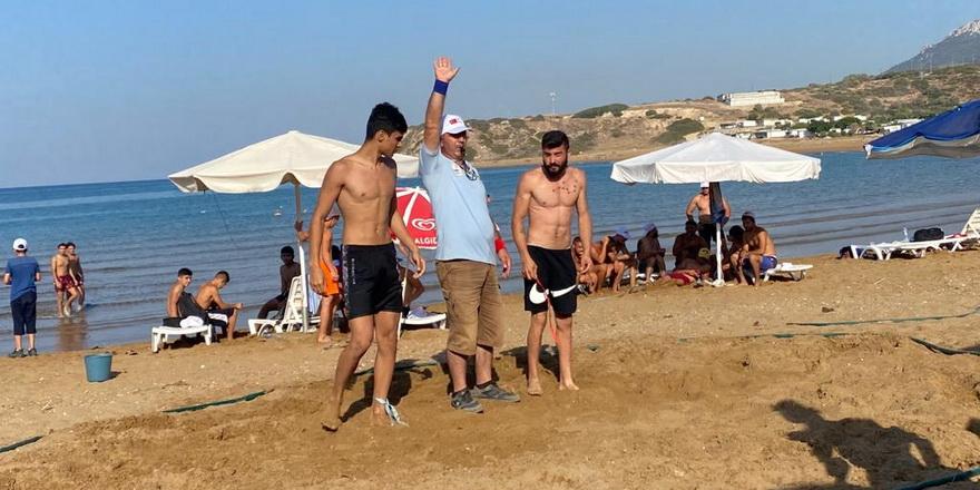 Plaj güreşinde üçünü hafta Kaplıca'da yapıldı