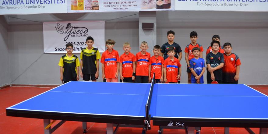 Masa tenisinde Minikler Ligi başladı