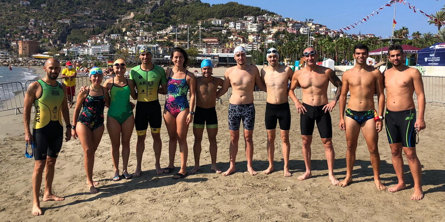 Triatletlerimiz Alanya'da ilk antrenmanını yaptı