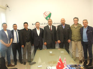 CONIFA yetkililerinden KTFF'ye ziyaret