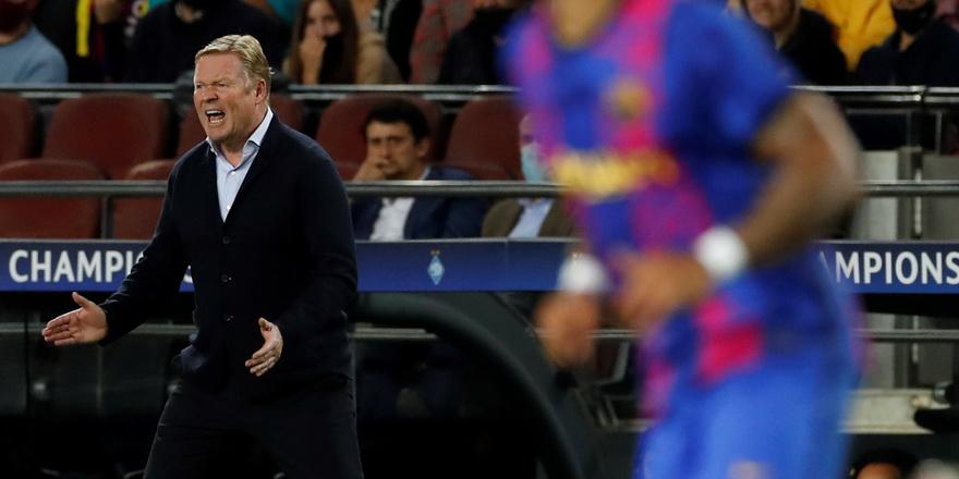 Barcelona'da Koeman gönderildi