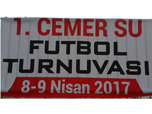 1. Cemer Su Futbol Turnuvası oynanıyor