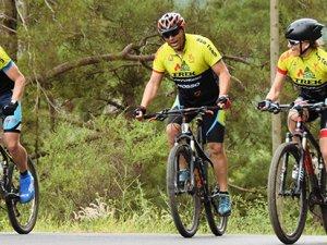 Alanya'da bisiklet kampına katıldılar