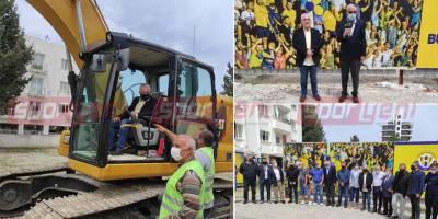 Doğan Türk Birliği yeni tesis için ilk kepçeyi vurdu